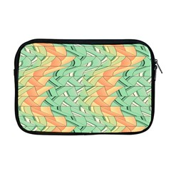 Emerald And Salmon Pattern Apple Macbook Pro 17  Zipper Case by linceazul