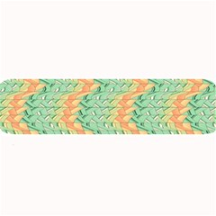 Emerald And Salmon Pattern Large Bar Mats by linceazul