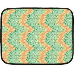 Emerald And Salmon Pattern Double Sided Fleece Blanket (mini)  by linceazul