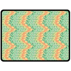 Emerald And Salmon Pattern Fleece Blanket (large)  by linceazul