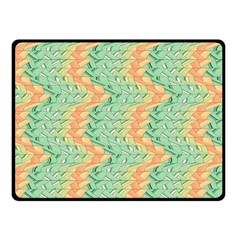 Emerald And Salmon Pattern Fleece Blanket (small) by linceazul