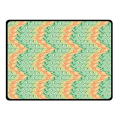 Emerald And Salmon Pattern Double Sided Fleece Blanket (small)  by linceazul