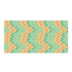 Emerald And Salmon Pattern Satin Wrap by linceazul