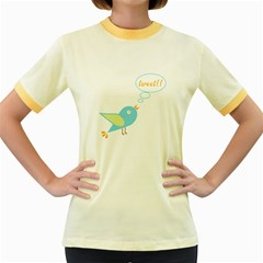 Cute Tweet Women s Fitted Ringer T Shirts by linceazul