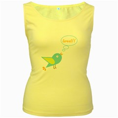 Cute Tweet Women s Yellow Tank Top by linceazul