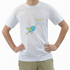 Cute Tweet Men s T Shirt (white) (two Sided) by linceazul