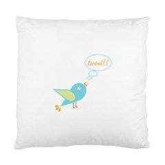 Cute Tweet Standard Cushion Case (one Side) by linceazul