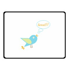 Cute Tweet Fleece Blanket (small) by linceazul