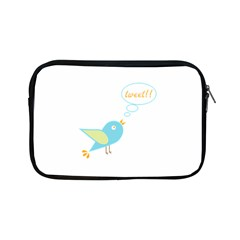 Cute Tweet Apple Ipad Mini Zipper Cases by linceazul