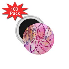 Watercolor Cute Dreamcatcher With Feathers Background 1 75  Magnets (100 Pack)  by TastefulDesigns