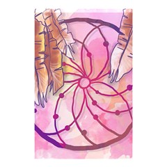 Watercolor Cute Dreamcatcher With Feathers Background Shower Curtain 48  X 72  (small)