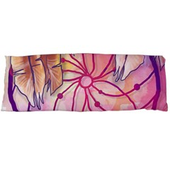 Watercolor Cute Dreamcatcher With Feathers Background Body Pillow Case (dakimakura) by TastefulDesigns