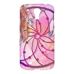 Watercolor Cute Dreamcatcher With Feathers Background Samsung Galaxy S4 I9500/i9505 Hardshell Case by TastefulDesigns