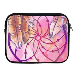 Watercolor Cute Dreamcatcher With Feathers Background Apple Ipad 2/3/4 Zipper Cases by TastefulDesigns