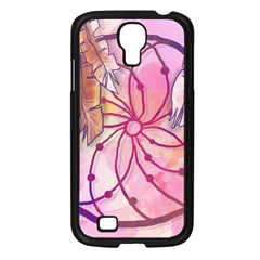 Watercolor Cute Dreamcatcher With Feathers Background Samsung Galaxy S4 I9500/ I9505 Case (black) by TastefulDesigns