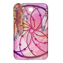 Watercolor Cute Dreamcatcher With Feathers Background Samsung Galaxy Tab 3 (7 ) P3200 Hardshell Case  by TastefulDesigns