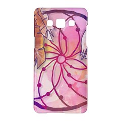 Watercolor Cute Dreamcatcher With Feathers Background Samsung Galaxy A5 Hardshell Case  by TastefulDesigns