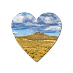 Patagonian Landscape Scene, Argentina Heart Magnet by dflcprints