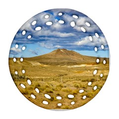 Patagonian Landscape Scene, Argentina Round Filigree Ornament (two Sides) by dflcprints