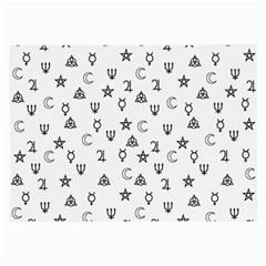 Witchcraft Symbols  Large Glasses Cloth (2 Side) by Valentinaart