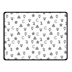 Witchcraft Symbols  Double Sided Fleece Blanket (small)  by Valentinaart
