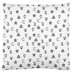 Witchcraft Symbols  Large Flano Cushion Case (one Side) by Valentinaart
