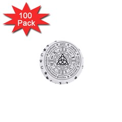 Witchcraft Symbols  1  Mini Buttons (100 Pack)  by Valentinaart