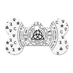Witchcraft Symbols  Dog Tag Bone (one Side) by Valentinaart