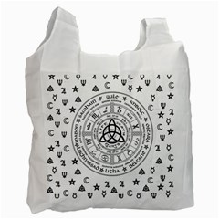 Witchcraft Symbols  Recycle Bag (two Side)  by Valentinaart