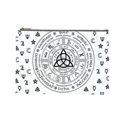 Witchcraft Symbols  Cosmetic Bag (large)  by Valentinaart