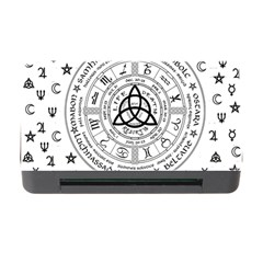 Witchcraft Symbols  Memory Card Reader With Cf by Valentinaart