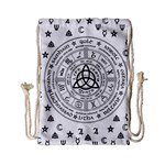 Witchcraft symbols  Drawstring Bag (Small) Back