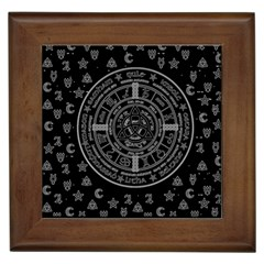 Witchcraft Symbols  Framed Tiles by Valentinaart