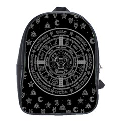 Witchcraft Symbols  School Bags(large)  by Valentinaart