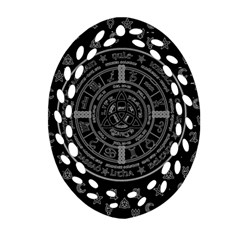 Witchcraft Symbols  Oval Filigree Ornament (two Sides) by Valentinaart