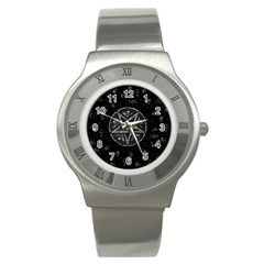 Witchcraft Symbols  Stainless Steel Watch by Valentinaart