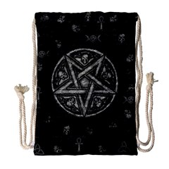 Witchcraft Symbols  Drawstring Bag (large) by Valentinaart