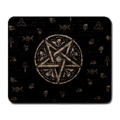 Witchcraft Symbols  Large Mousepads by Valentinaart