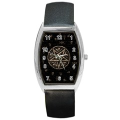 Witchcraft Symbols  Barrel Style Metal Watch by Valentinaart