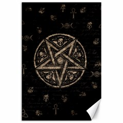 Witchcraft Symbols  Canvas 24  X 36