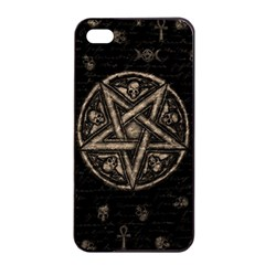 Witchcraft Symbols  Apple Iphone 4/4s Seamless Case (black) by Valentinaart