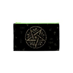 Witchcraft Symbols  Cosmetic Bag (xs) by Valentinaart