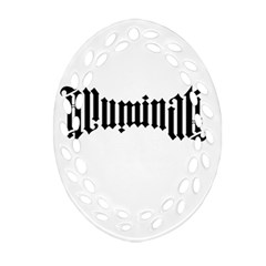 Illuminati Oval Filigree Ornament (two Sides) by Valentinaart