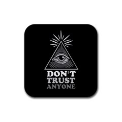 Illuminati Rubber Square Coaster (4 Pack)  by Valentinaart