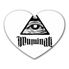 Illuminati Heart Mousepads by Valentinaart