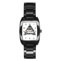 Illuminati Stainless Steel Barrel Watch by Valentinaart