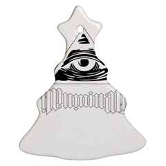 Illuminati Christmas Tree Ornament (two Sides) by Valentinaart
