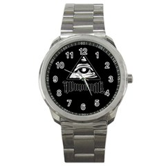 Illuminati Sport Metal Watch by Valentinaart
