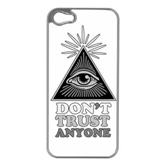 Illuminati Apple Iphone 5 Case (silver) by Valentinaart