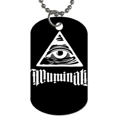 Illuminati Dog Tag (one Side) by Valentinaart
